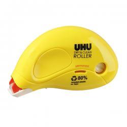 Colla a nastro Dry&Clean Roller - permanente - 6,5 mm x 8,5 mt - incolore - UHU®