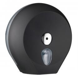 Dispenser Soft Touch di carta igienica in rotolo Mini Jumbo - nero - Mar Plast