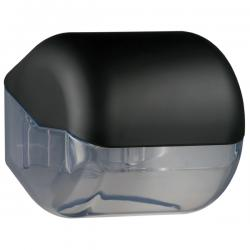 Dispenser Soft Touch di carta igienica - nero - Mar Plast