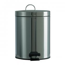 Pattumiera a pedale - acciaio inox - 5 litri - Medial International