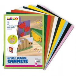 Cartoncino ondulato Cannetè 2200 - 25x35cm - colori assortiti - CWR - Conf.10 fogli