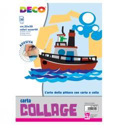 Album collage 700/20 - 35x50cm - 20fg - carta rasata adesiva - colori assortiti - CWR