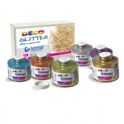 Glitter grana fine - 150ml - colori assortiti - CWR - Conf. 6 barattoli