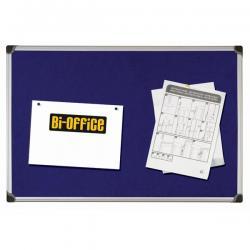 Pannello Maya Felt Board - feltro blu - 90x120 cm - Bi-Office