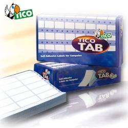Etichette a modulo continuo Tico TAB 1 - 89x23,5 mm - corsia singola - permanente - bianco - Tico - scatola da 6000 etichette