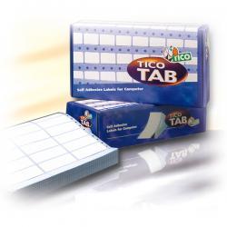 Etichette a modulo continuo Tico TAB 1 - 100x36,2 mm - corsia singola - permanente - bianco - Tico - scatola da 4000 etichette