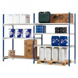 Kit iniziale scaffale - 3 ripiani - in metallo - 100x60cm - H200cm - Paperflow