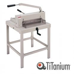 Taglierina a leva alti spessori 3941 - A3 - 430 mm - capacità taglio 500 fg - 68x68 cm - blocca lama - grigio - Titanium
