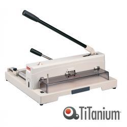 Taglierina a leva alti spessori 3943 - A4 - 370 mm - capacità taglio 135 fg - 47,5x45 cm - blocca lama - grigio -Titanium
