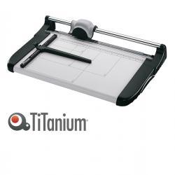 Taglierina a lama rotante 3018 - A4 - 360 mm - taglio lineare - capacità taglio 15 fg - grigio/nero - Titanium