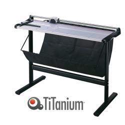 Taglierina a lama rotante 3021 - con stand - A1 - 960 mm - taglio lineare - capacità taglio 10 fg - grigio/nero - Titanium