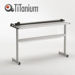 Taglierina a lama rotante TN130 - con stand - A0 - 1300 mm - taglio lineare - capacità taglio 8 fg - grigio - Titanium