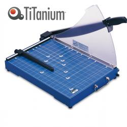 Taglierina a leva - B4 - 390 mm - capacità taglio 20 fg - 30,5x42,5 cm - blocca lama - blu -Titanium