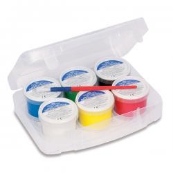 Ditacolor colori a dita - 100ml - c/pennello - Primo - valigetta 6 colori