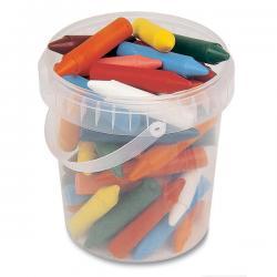 Pastelli a cera jumbo - 12 colori - lunghezza 65mm con Ø 13,5mm - Primo - secchiello 60 pezzi