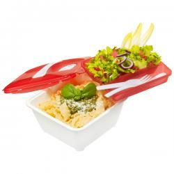 Contenitore Micro Complete - linea Microwave - 19,3x19,3x10,9 cm - 1,7 L - bianco/rosso - Rotho