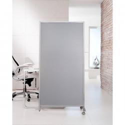 Paretina divisoria - 80x40x170 cm - policarbonato/acciaio - grigio chiaro - Serena Group