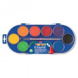 Acquerelli jumbo - ø 44mm - colori assortiti - Primo - Conf.astuccio 10 pastiglie