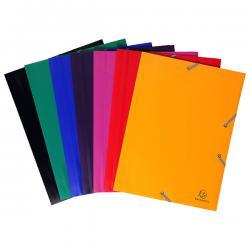 Cartellina 3 lembi - con elastici - PPL - 24x32 cm - giallo - Exacompta