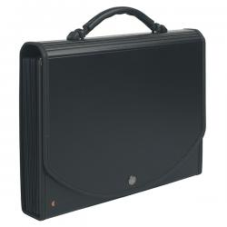 Classificatore Exacase - 13 tasche - PPL - 33x26 cm - nero - Exacompta