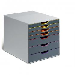 Cassettiera Varicolor® - 28x35,6x29,2 cm - 3 cassetti da 4 cm + 4 cassetti da 1,5 cm - grigio/varicolor - Durable