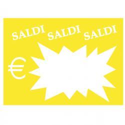Segnaprezzi Flash Saldi - 8x11 cm - colori assortiti - CWR - conf. 50 pezzi