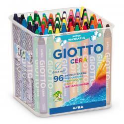 Barattolo 96 pastelli cera - 90mm - ø 8.5mm - colori assortiti - Giotto