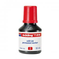 Marcatore - rosso - 30ml - inchiostro permanente - Edding