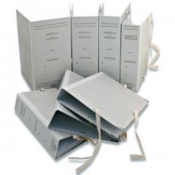 Faldone - legacci rivettati - 35x25 cm - dorso 8 cm - grigio - Euro-cart