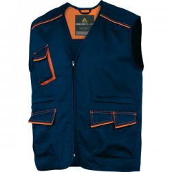 Gilet da lavoro Panostyle® M6GIL - sargia/poliestere/cotone - taglia L - blu/arancio - Deltaplus