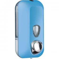 Dispenser Soft Touch per sapone liquido - azzurro - capacità 0.55 lt - Mar Plast