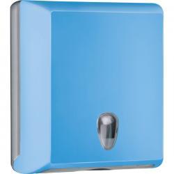 Dispenser asciugamani piegati Soft Touch - azzurro - Mar Plast