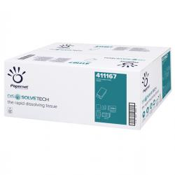 Asciugamani piegati a V Dissolve Tech - goffratura a onda - Papernet - conf. 250 pezzi