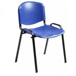 Sedia attesa Dado D5SP - senza braccioli - blu - Unisit