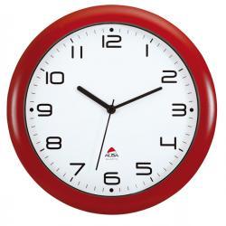 Orologio da parete Hornew - diametro 30cm - rosso - Alba