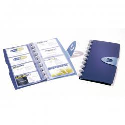 Porta biglietti da visita Duralook® Visifix Walk - ad anelli fissi - 96 posti - 15x26 cm - Durable