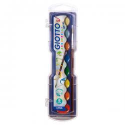Acquerelli metal - colori assortiti - Giotto - Conf. Astuccio 8 pastiglie