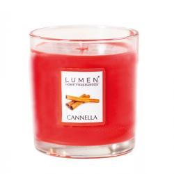 Candela in bicchiere - cannella - Lumen