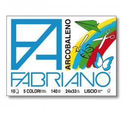 Album Arcobaleno - 240x330mm - fg10 - 140gr - 5 colori - Fabriano