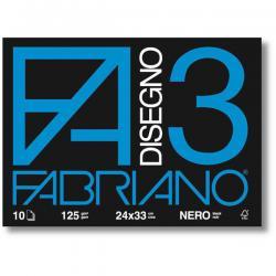 Album F3 - 240x330mm - fg 10 neri - 125gr - Fabriano