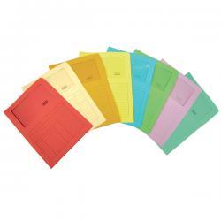 Cartelline a L con finestra Sintex - cartoncino 120 gr - acqua marina - Blasetti - conf. 50 pezzi