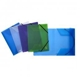 Cartellina 3 lembi - con elastico 2ndLife - 22x30 cm - dorso fino a 3 cm - mix 4 colori - Favorit