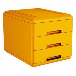 Mini cassettiera - 17,7x25,4x17 cm - 3 cassetti da 4 cm - arancio - Arda