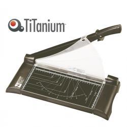 Taglierina a leva - A4 - 315 mm - capacità taglio 15 fg - blocca lama - nero - Titanium
