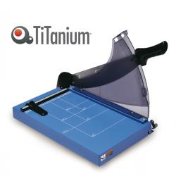 Taglierina a leva - A4 - 360 mm - capacità taglio 40 fg - blocca lama - blu - Titanium