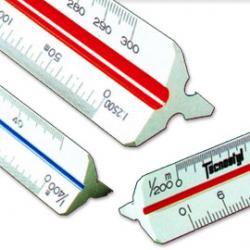 Scalimetro 98U - 30cm - scale 1:1-2-5-20-50-100-200-500-1000-1250-2500 - Tecnostyl