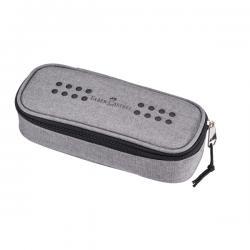 Astuccio ovalino grip - melange grigio - Faber Castell