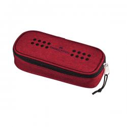 Astuccio ovalino grip - melange marsala rosso - Faber Castell