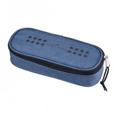 Astuccio ovalino grip - melange blu avio - Faber Castell