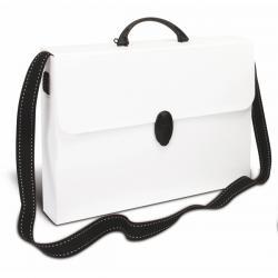Valigetta Polionda - 27x37,5cm - dorso 8cm - con tracolla bianca - Balmar 2000